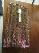 Catherine Malandrino Skirt Size 8 Brown/Pink New With Tags