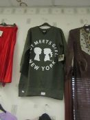 Boy Meets Girl Long Sweatshirt Green Size X/S New With Tags