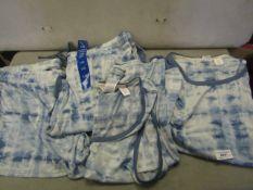 4 PC Lounge Set Ladies Size L,Shorts Pants Vest Top & T/Shirt Top Looks Unworn