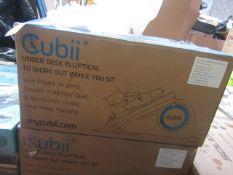 | 1X | CUBII UNDER DESK ELLIPTICAL WORKOUT | UNCHECKED AND BOXED | NO ONLINE RE-SALE | RRP œ179.99 |