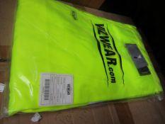 2x VIZWEAR - Cargo Trousers, 4XL, Yellow | New & Packaged.