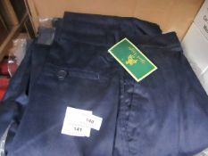 2x Black Knight - Work trousers - Navy - Size 42 - New & Packaged.