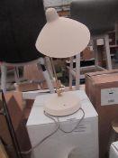 | 1x | HEALS.COM MILTON DESK LAMP WHITE & BRASS | UNCHECKED & BOXED | RRP £132 |