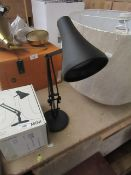 | 1X | HEELS 90 MINI DESK LAMP IN CARBON BLACK | NO VISIBLE MAJOR DAMAGE RRP £99 |
