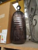 | 1X | COX & COX NORDAL GLASS TABLE LAMP | MISSING SHADE, BOXED | RRP £95 |