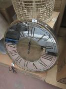 | 1x | COX AND COX LARGE MIRRORED ROMAN WALL CLOCK | UNCHECKED & BOXED | RRP £195 |
