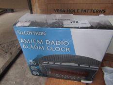 LLOYTRON AM/FM Radio Alarm Clock | Unchecked & Boxed