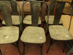 | 2X | COX & COX WOOD AND METAL DINING CHAIR | UNCHECKED, MAY HAVE MARKS, NO BOX | RRP £250 |