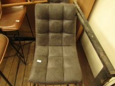 | 1x | COX & COX SOHO DINING CHAIR CARBON | NO VISIBLE DAMAGE | RRP WHEN A SET OF 2 £450 |