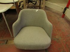 | 1X | MADE.COM EDEE CARVER DINING CHAIR, GREY GREEN WEAVE, HAS NO LEGS BUT SEEMS TO BE NO