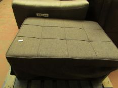 Costco Folding Footstool Sofa Bed Black   Some dirty Marks Present   RRP £299  