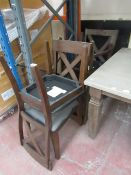 Set of 4x Bayside dining chairs, may have marks and scuffs.