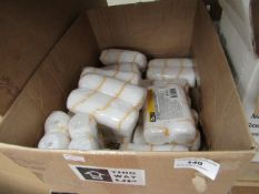Approx 14x Diall packs of 2 thick coat 120mm / 4¾ rollers, new and packaged.