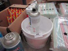2x White Mixer Tubes Capacity Approx 2.5 Litres - Unused.