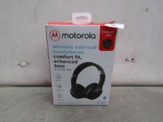 Motorola - Wireless Over-Ear Headphones - Untested & Boxed.