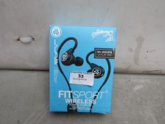 JLAB - Fitsport Wireless Fitness Earbuds - Untested & Boxed.