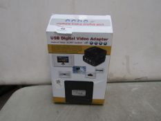 USB Digital Video Adapter - Untested & Boxed.