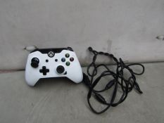 PDP - Wired Controller (White) - Suitable For Xbox One - Untested, Non Original Packaging.
