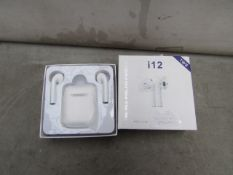 TWS - True Stereo Wireless Earbuds ( Auto Pairing 5.0) - Untested & Boxed.
