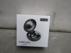 TWS - True Stereo Wireless Earbuds ( Q-16 ) - Untested & Boxed.