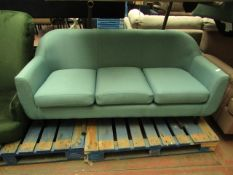 | 1X | MADE.COM THREE SEATER LOVE SEAT | NO MAJOR DAMAGE AND INCUDES FEET | RRP ?- |
