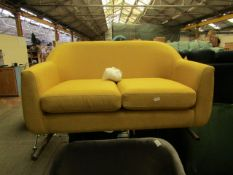 | 1X | MADE.COM MUSTARD 2 SEATER LOVE SEAT | NO VISIBLE DAMAGE AND INCLUDES FEET | RRP œ349 |