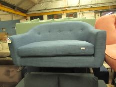 | 1X | MADE.COM 2 SEATER LOVESEAT BUTTON BACK | NO MAJOR DAMAGE AND MISSING FEET | RRP CIRCA œ349 |