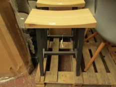 | 1X | COX & COX CURVED TOP TOPPED COUNTER STOOL - ANTHRACITE | NO MAJOR DAMAGE | RRP ?250 |