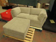 Mstar 3 piece modular sofa set, no major damage.