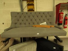 | 1X | MADE.COM 2 SEATER BUTTON BACK SOFA WITH WOODEN LEGS | NO VISIBLE DAMAGE | RRP ?- |