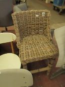| 1X | COX & COX ROUND RATTAN COUNTER STOOL | LOOKS UNUSED (NO GUARANTEE) SMALL SCRATCH ON ONE LEG |