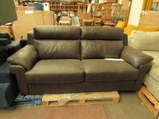 La-Z-boy 2 seater sofa leather, no major damage.