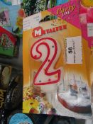 6x Metaltex - Birthday Number Candles - ( Assorted Numbers ) - Unused & Packaged.