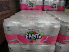 2x 8 pack of Fanta - Pink Grapefruit - 330ml - BBD 30-06-20.
