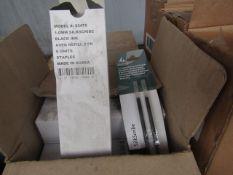 4x Staples - Black Ink Aveo Refill 1.0mm Silkscribe (72 Units Per Box) - Unused & Boxed.
