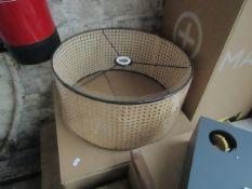 1 x Made.com Sagres Pendant Lamp Shade Natural Cane and Black RRP £49 SKU MAD-CLPSAG001NAT-UK