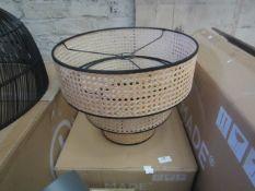 1 x Made.com Sagres Chandelier Lamp Shade Natural Cane & Black RRP £89 SKU MAD-AP-SHDSAG002BLK-UK