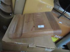   1x   MADE.COM DAYDE BIKE STAND WOOD & BRASS   NO VISIBLE DAMAGE & BOXED   RRP £49  