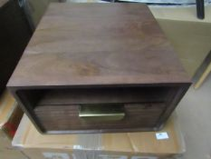 1 x Made.com Haines Bedside Table Mango Wood & Brass RRP £179 SKU MAD-STBHAI001MAN-UK TOTAL RRP £179