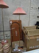 1 x Made.com Gaby Pleated Floor Lamp Brass & Pink RRP £89 SKU MAD-FLPGAB004PNK-UK TOTAL RRP £89 This