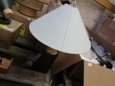 1 x Made.com Natalie Table Lamp Dark Wood and White RRP £69 SKU MAD-AP-TLPNAT001DRK-UK TOTAL RRP £69