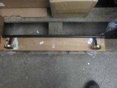 1 x Made.com Zenia Towel Rack Matt Black & Brushed Brass RRP £35 SKU MAD-AP-BTAZEN004BLK-UK TOTAL