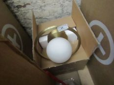 1 x Made.com Remi Wall Lamp Brushed Brass and Opal White Glass RRP £49 SKU MAD-BTLREM001ZBR-UK TOTAL