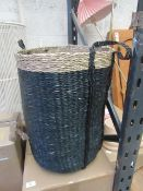 1 x Made.com Otten Laundry Basket Black Seagrass RRP £39 SKU MAD-STOOTT001BLK-UK TOTAL RRP £39