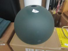   1x   MADE.COM GREEN DOMED LAMP SHADE   ONLY 1 PART, MISSING 2 PARTS OF 3   NO VISIBLE DAMAGE &