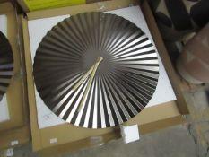 1 x Made.com Bushwick Large Statement Fan Wall Clock 50cm Gunmetal RRP £39 SKU MAD-CLKBUS001GRY-UK