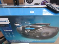 Philips - Boombox Bluetooth CD Cassette Player – Black ( AZB798 ) - Item Tested Working Via DAB