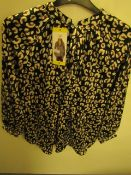 J.A.C.H.S Girlfriend Blouse Animal Print Size M New With Tags