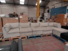 Mstar 6 Piece modular sofa set, no major damage, but could do with a clean in places and includes