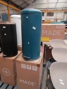 | 1X | MADE.COM JOSS 30L DOMED BIN, BLUE | MAY HAVE DENTS AND MARKS, BOXED | RRP ?39 |